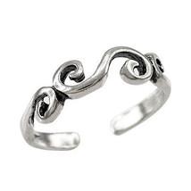 925 Sterling Silver Swirl Toe Ring - $11.99