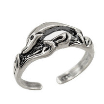 Sterling Silver Dolphin Toe Ring - $10.99