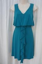 Jessica Simpson Dress Sz 12 Teal Tidepool Sleeveless Casual Business Coc... - £49.34 GBP