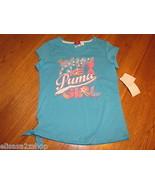 "Puma girls active t shirt PGM27180 M Blue Atoll ""Win Like A Puma Girl"" N... - $12.86"