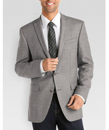 Kenneth Cole Reaction Mens Blazer Sz 40L Long Grey White Multi Business ... - $126.44