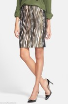 NWT $275 DIANE VON FURSTENBERG DVF Emma Mikado Leopard Ikat Pencil Skirt... - $98.99