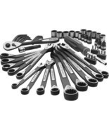 56 Piece Socket Wrench Universal Mechanics Tool... - £69.91 GBP