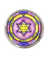 Solomons 2nd Seal of Jupiter for Honor Wealth Peace Silver Adjustable Ring - $14.95