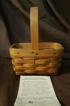 Longaberger 1995 Horizon Of Hope Basket 17124 & Protector  - $9.99