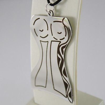 STAINLESS STEEL WOMAN BODY BIG LOVERS PENDANT CHARMS, FINELY WORKED, BY KATIA