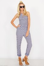 NEW Sugar Lips Sugarlips Bohemian Boho Chic Blue Winding Road Jumpsuit X... - $62.00
