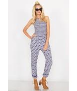 NEW Sugar Lips Sugarlips Bohemian Boho Chic Blue Winding Road Jumpsuit X... - $62.00