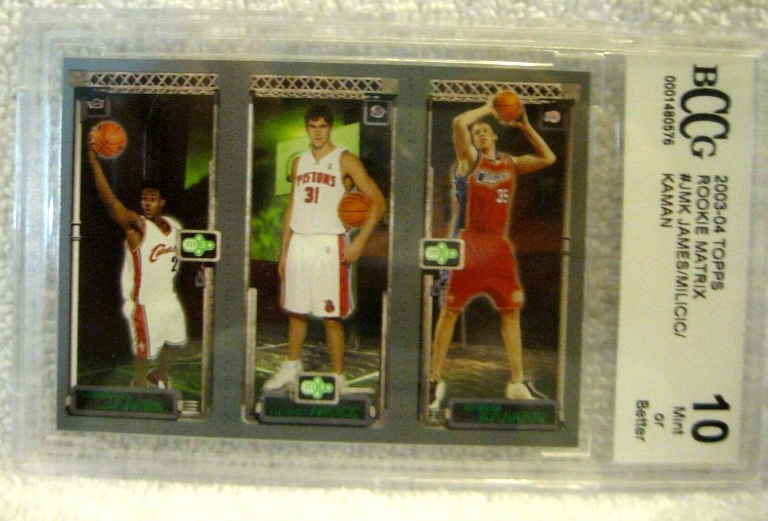 Lebron James RC 2004 Fleer USA Rookie Card GEM BGS 9.5! Cavaliers RC image 2