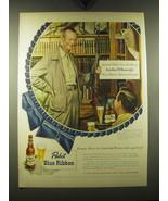 1948 Pabst Blue Ribbon Beer Ad - Jonathan M. Wainwright - $14.99