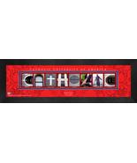 Personalized Catholic University of America Campus Letter Art Framed Print - $39.95