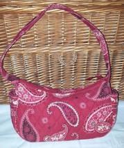 Vera Bradley Mesa Red Small Purse Tote Shoulder Bag 4 pocket handbag retired - $18.34