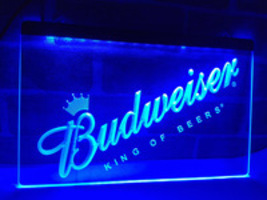 Budweiser LED neon light sign King of Beers Pub Bar Dorm  - $29.99