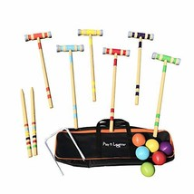 """Play N Laughter 6 Player Croquet Set with Carrying Bag - 26"""" - $37.88"""