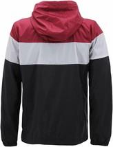 Men's Red Label Hooded Nylon Zip Up Lightweight Athletic Windbreaker Rain Jacket image 2