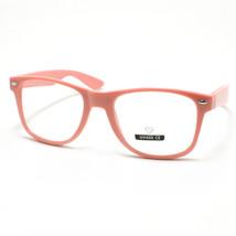 Clear Lens Eyeglasses Vintage Square Horn Rim Pink - $6.88