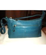 Stone Mountain Small Turquoise Shoulder Bag Handbag Pebbled Leather - $17.00