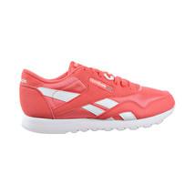 Reebok Classic Nylon Color Women's Running Shoes Bright Rose-White DV7698 - $69.95