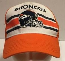 Denver Broncos Mesh Snapback Hat Cap New Era 9Forty Stripes Orange - $20.56