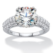 PalmBeach Jewelry 4.92 TCW Cubic Zirconia Platinum over .925 Silver Brid... - $44.82