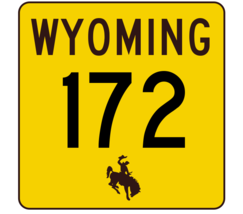 Wyoming Highway 172 Sticker R3446 Highway Sign - $1.45+