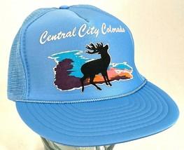 CENTRAL CITY COLORADO Hat-Elk-Mesh-Blue-Snapback-Rope Bill-Vacation Cap-... - $15.79
