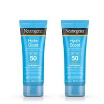 Lot of 2 Neutrogena Hydro Boost Water Gel Lotion Sunscreen SPF 50 Helioplex NEW - $19.79