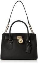 New Michael Kors Women Hamilton E/W Md Saffiano Satchel Bag Black Color - $224.39