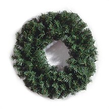 Canadian Pine Wreath - 220 Tips - Green - 24 inches 1 pack