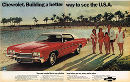 Vintage 1972 2-Page Magazine Ad Chevrolet Impala Building Better Way To Travel - $5.93