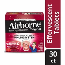 Vitamin C 1000mg - Airborne Very Berry Flavored Effervescent Tablet, 30 ... - $8.55