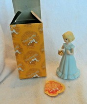 Growing Up Birthday Girls Age 6 Year Figure Bisque Porcelain-Enesco - $8.50