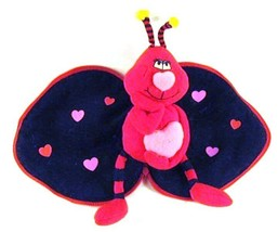 Russ BUZZBY Valentines Day Bee Love Plush Zips Closed to Form a Heart - $10.39