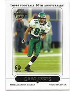 2005 Topps First Edition#308 Greg Lewis Ex / NM Eagles  -  0.75美元