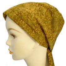 Hand Dyed Batik Chemo Cancer Alopecia Hair loss Scarf Turban Head Wrap Cover - $16.95