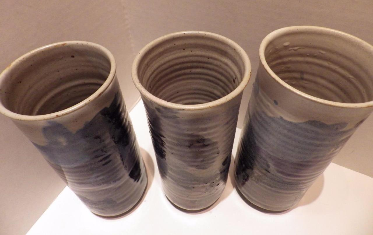 3) BUIE POTTERY 10 Oz Cups Glasses Vases and 48 similar items