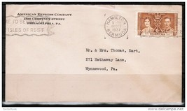 BERMUDA 1937 ADVERTISING COVER TO WYNNEWOOD, PA.USA (18/OCT/1937) (OS-201) - $3.91