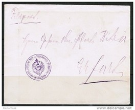 """GERMANY 1914 WWI """"FELDPOST"""" COVER from BELGIUM to GERMANY (6/10/14) (OS-... - $19.75"""