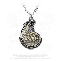Fibonacci's Golden Spiral Pendant by Alchemy Gothic - $34.60