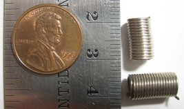VINTAGE NICKEL PLATED - Spring Coil Bead 8mm x 7mm / 4mm Inside - 6 Beads - $8.90