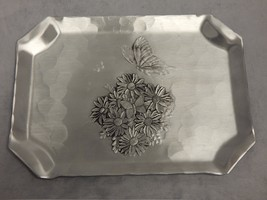 Wendell August Forge Rectangle Floral Butterfly... - $23.76