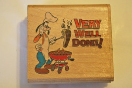 "Disney Mickey Mouse's Goofy ""Very Well Done"" Mounted Rubber Stamp - $18.99"