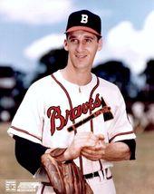 Warren Spahn Boston Braves BO Vintage 8X10 Color Baseball Photo - $4.99