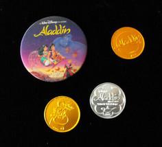 Disney Aladdin Coins & Video Promo 3d Lenticular Flicker Button - $14.99