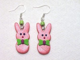 Easter Bunny Boy Peeps Frost Coral Pink Green P... - $2.25