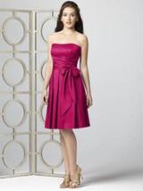 Dessy 2857...Strapless Cocktail Dress.......Tutti Frutti.....Sz 12 - $19.79