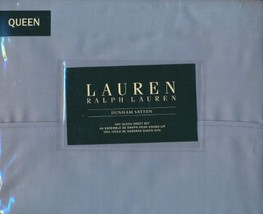 Ralph Lauren Dunham Mist Blue/Gray Sheet Set, Queen - $83.00