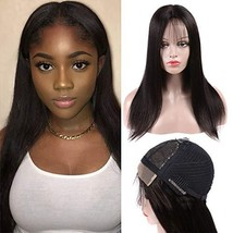 4X4 Lace Front Wigs Human Hair 10inch Brazilian Straight Hair Soft Smoot... - $55.08