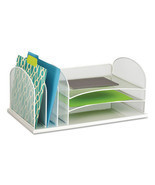 """Desk Organizer, Six Sections, Steel Mesh, 19 3... - $70.68"