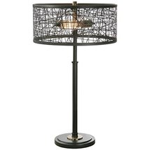 Uttermost 26131-1 Alita Drum Shade Lamp, Black - $261.80